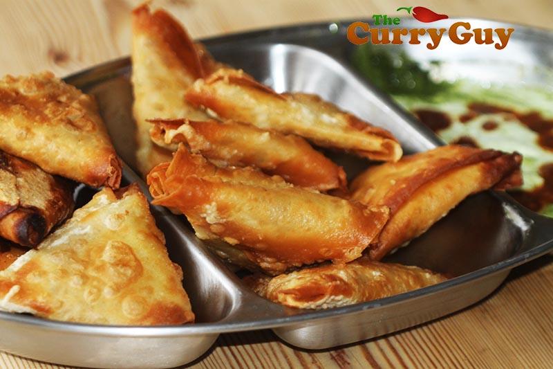Smoked toor dhal samosas