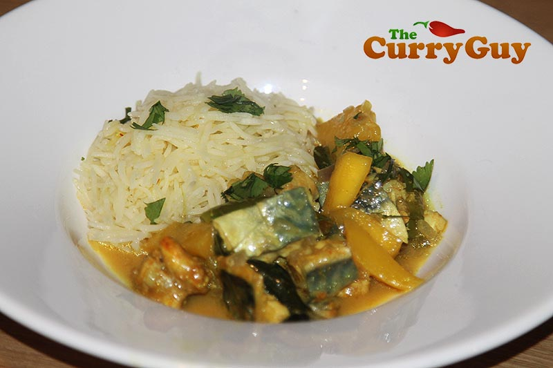 Mackerel and mango curry